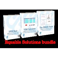 Equable solutions bundle (The DMAIC Suite, VSM Calculator, DFSS Basic tools)