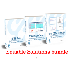 Equable solutions bundle (The DMAIC Suite, VSM Calculator, DFSS Basic tools)